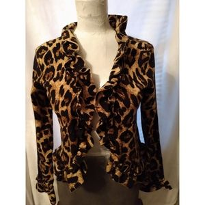 Animal print Blazer size petite/medium